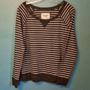 Abercrombie and Fitch Striped LS Tee